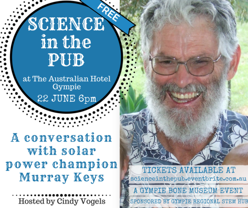 science in the pub a conversation with solar power champion murray keys
